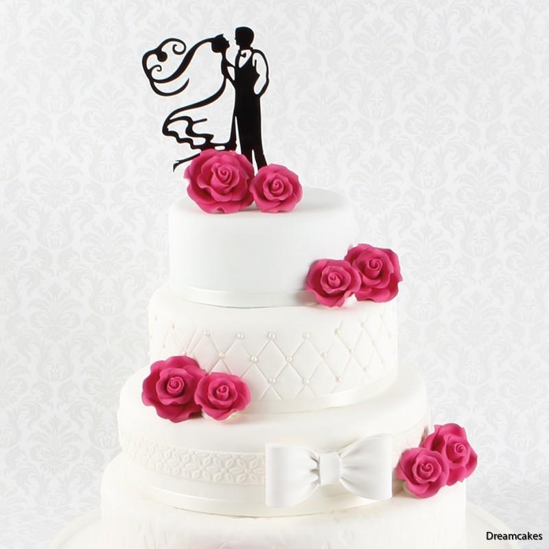 bröllopsdekoration för tårtan