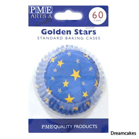 muffinsform med stjärnor, cupcakeform, bullform, blå form med stjärnor