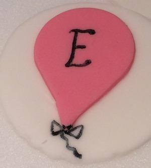 Tårtdekorationer, ballonger, sockerballonger,