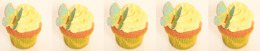 muffins med fjärilar, oblatfjärilar, tårtdekorationer, cupcakes