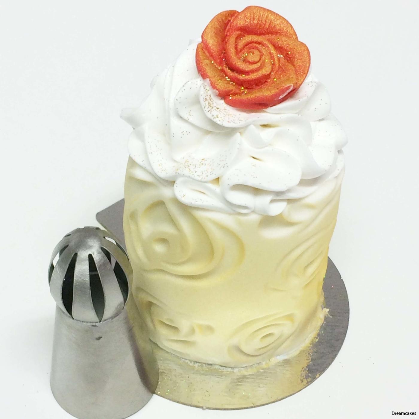 tyll, spritsa på cupcakes, fluffig topping,
