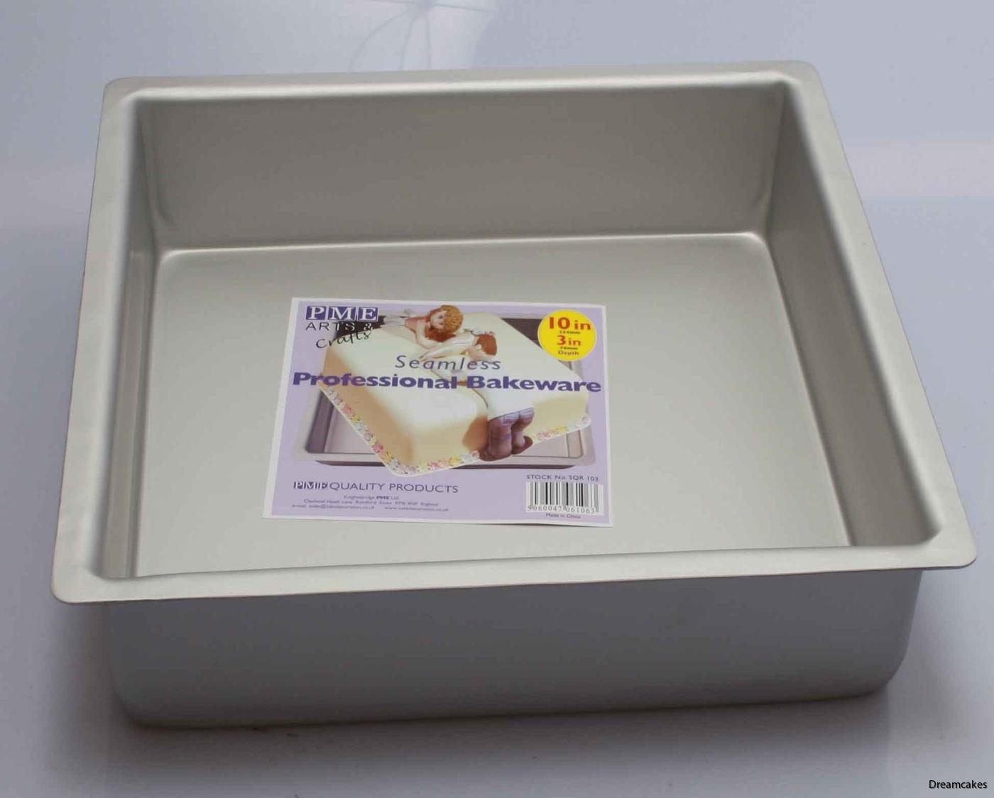 bakform i fyrkant för bröllopstårta, doptårta eller andra tårtor,