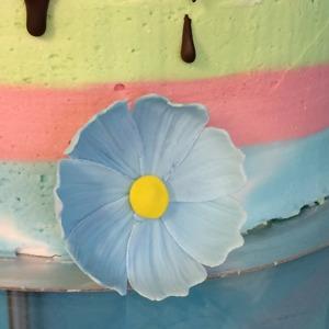 Wild flower, blomma utan trådning, blomma till tårta, tårtdekorationer, sockerblommor
