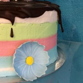 tårtdekoration, tårtblomma, sockerblomma, wild flower, tårtkonst, blomma utan tråd