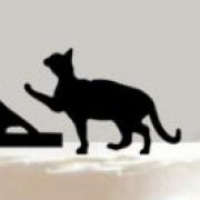 Brudpar  - Svart siluett Katt