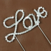 Caketopper Love i strass