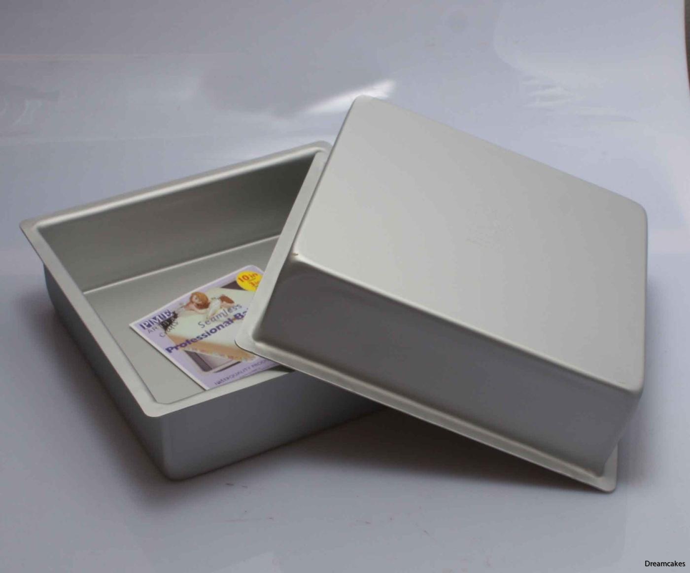 fyrkantig bakform, bakform, aluminiumform, jämn bakning, kvadratisk bakform, tårtform, baka tårta