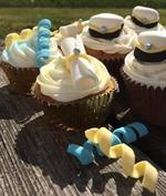 studentcupcakes, tårtdekorationer för studenten, studenttårta