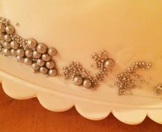 silverströssel, kornströssel i silver, mjuka pärlemopärlor, mjuka pärlor för tårta, tårtdekorationer i silver