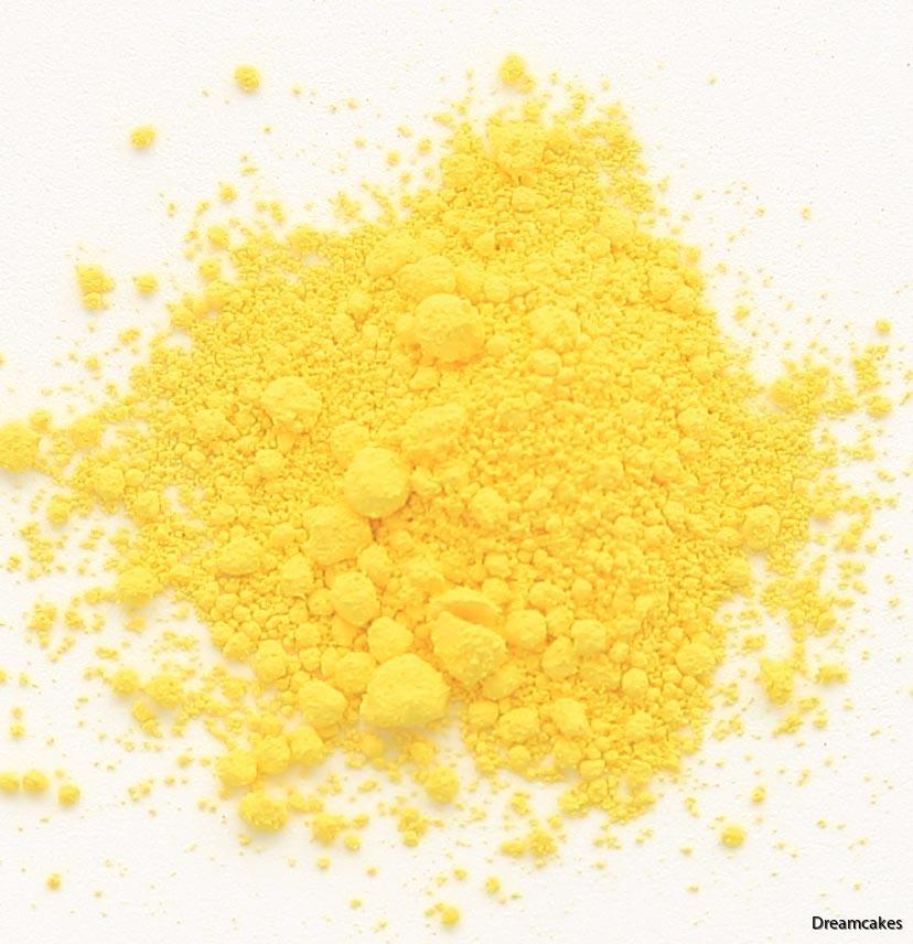 gul pulverfärg, ätbar gul färg, färga choklad gult, livsmedelsfärg gul