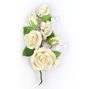 Sockerbukett - Vita rosor Ivory