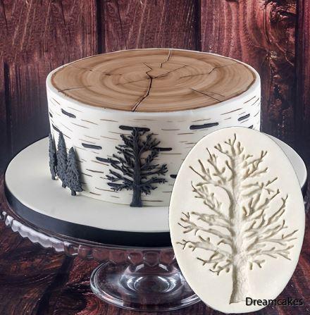 träd, tårtdekoration, trädtårta, träd till tårta och cupcakes, träd i marsipan, träd i socker, chokladträd