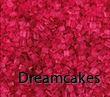 rött glitter, röd tårtdekoration, ätbart rött socker,