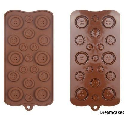 knapp, ätbara knappar till tårta och cupcakes, tårta med knappar, chokladknappar
