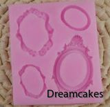 sockerramar, tårtderkoration ramar, ätbara fotoramar för tårta och cupcakes