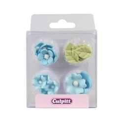 Blommor i blått