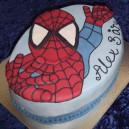 Tårta för barnkalas, spindelmannentårta, baka specialtårta till barnkalas, temakalas