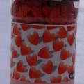 Figurströssel - Large red hearts