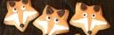 söta rävkakor, rävar, cookies dekorerade som rävar