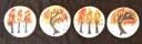 Målade kakor, dekorerade höstkakor