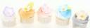 söta minicupcakes/minimuffins i pastelliga färger