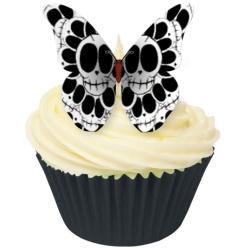 Ätbara döskallefjärilar av oblat