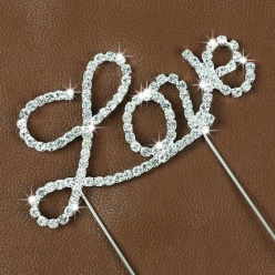 Caketopper Love i strass