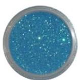 Blått glitter - Sea blue