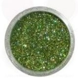 Tårtglitter - Lime Hologram