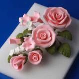 Sockerbukett - Rosa Ros