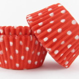 Minimuffins - Red polka dots