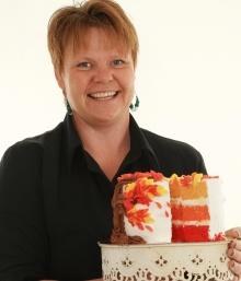 Kursledare Ina Pedersen har arbetat med sockerkonst sedan 2002 med eget företag sedan 2003.