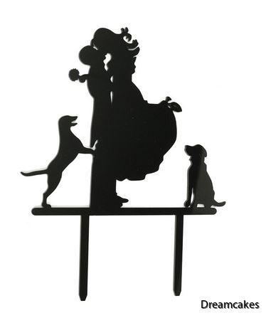 Bröllopstårta med hundar