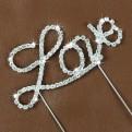 Caketopper Love i strass 2:a sortering