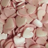 Strössel Rosa glimrande hjärtan