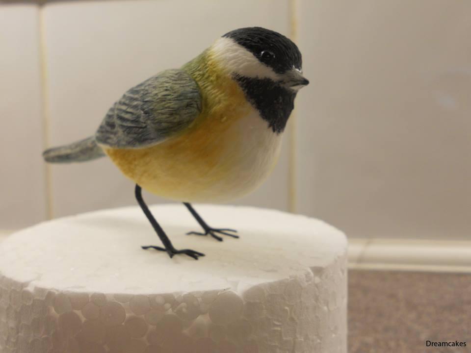 Gjutform i 3-d för detaljerad fågel för tårtdekoration