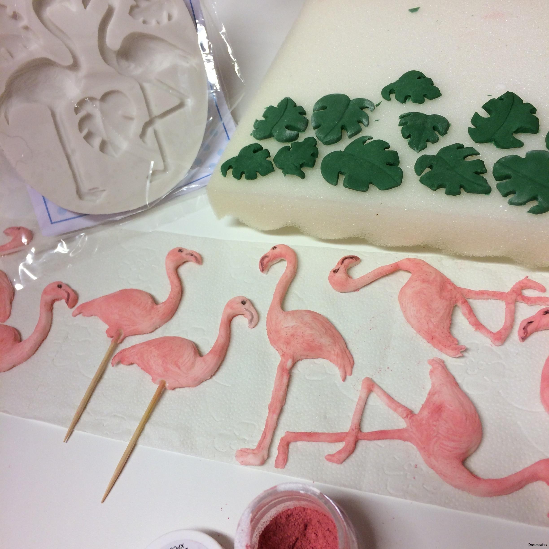 Fina flamingos för cupcakes, tårta och muffins