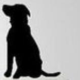 Tårtdekoration - Hund i siluett