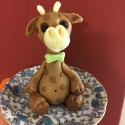 Så här gör du en giraff i socker. Tårtkurs om 5 kvällar