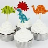 Muffinsdekoration Dinosaurier