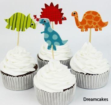 Dinosaurier till tårta, muffins eller cupcakes