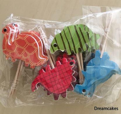 Snabbt och enkelt dekorerar du tårta, muffins och cupcakes med dessa dinosaurier