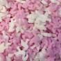 Flamingoströssel i rosa och vitt