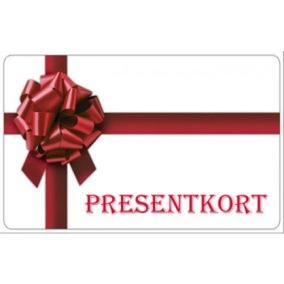 Presentkort i olika valörer