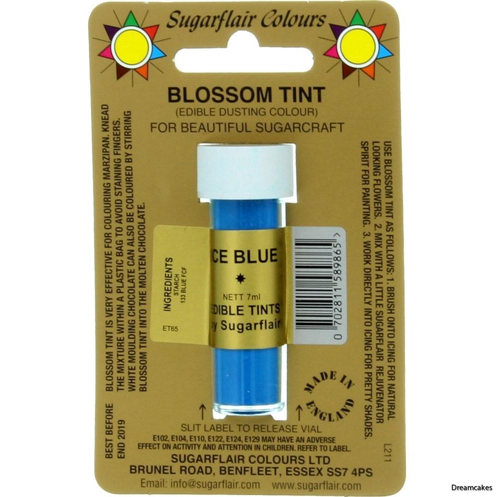 isblå pulverfärg för macarons och sockerblommor/sugarflowers