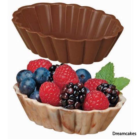 Gör ätbara skålar av choklad till desserten