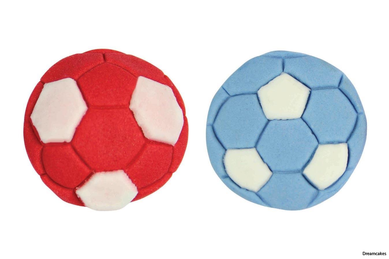 Snygga fotbollar av socker, gjorda av fotbollsutstickaren