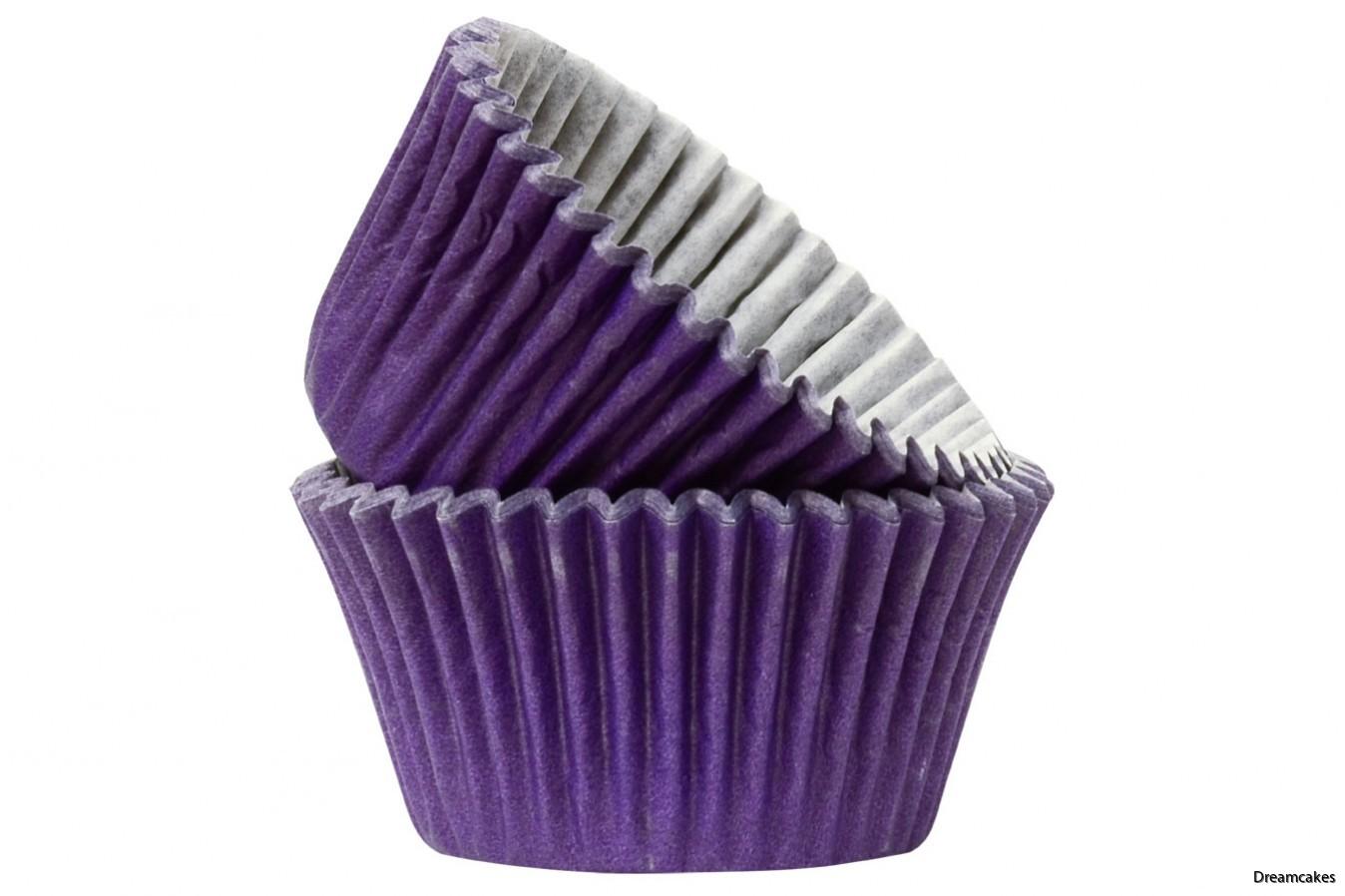 Läckert mörklila muffinsformar/cupcakesformar som håller färgen