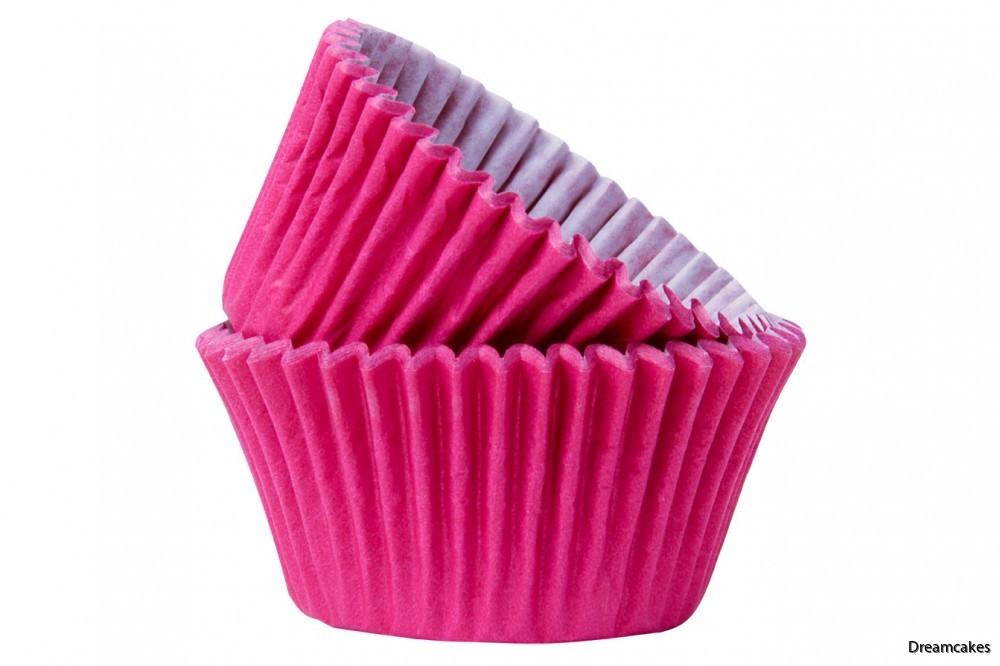 Läckra mörkrosa muffins- och cupcakeformar för alla tillfällen