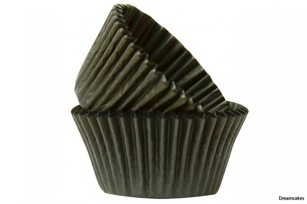 Läckert svarta muffinsformar/cupcakesformar som håller sig svarta även efter gräddningen